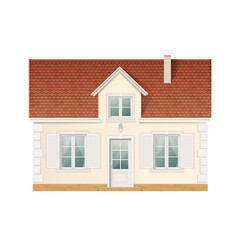 Small cute residential house vector