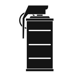 stun grenade icon simple style vector image