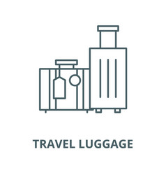 Travel luggage line icon linear concept vector