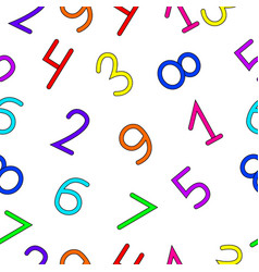 unambiguous multi-colored numbers vector image