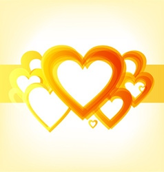 Valentines heart design vector image