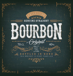 Vintage whisky label for bottle vector