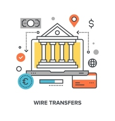 wire transfers concept vector image