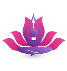 Yoga meditation logo vector