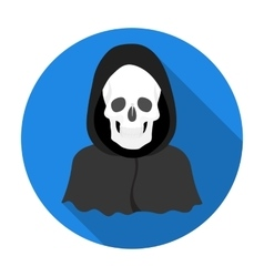 Death icon in flat style isolated on white vector image vector image