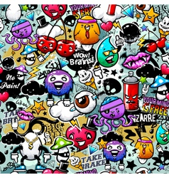 graffiti seamless texture vector image vector image