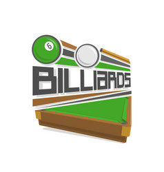 logo for a pool billiards vector image