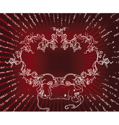 Red background vector image vector image