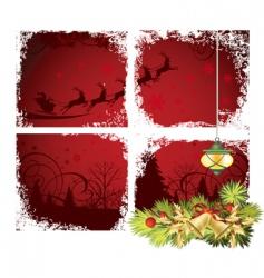 Christmas window vector image vector image