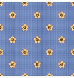 Floral pattern on a dark blue background vector