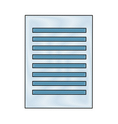 paper document file school supply icon vector image
