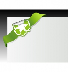 recycle symbol in the corner vector image