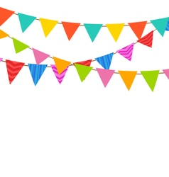 Set Bunting Pennants with Ornamental Texture vector image vector image