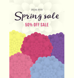 spring sale banner sale poster sale flyer with vector image vector image