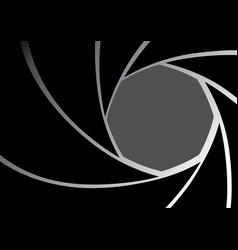 camera lens iris diaphragm background vector image