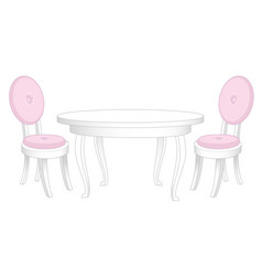dining set dining table and chairs vector image