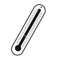 laboratory thermometer icon simple style vector image vector image
