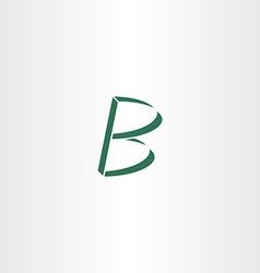 logo logotype green letter b design vector image
