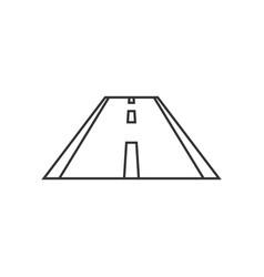piece of road icon vector image