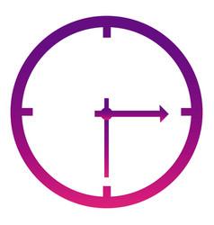 purple wall clock icon vector image vector image