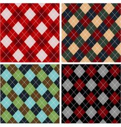 set of plaid patterns - cottons vector image