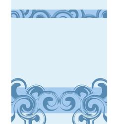 Wavy blue background vector image