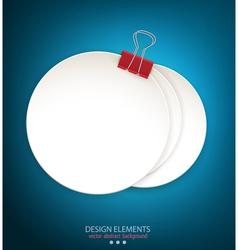 blue background with a round stack of paper vector image vector image