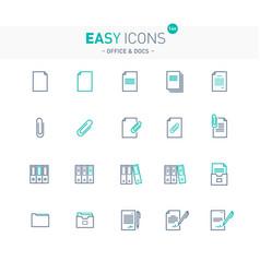 easy icons 14e docs vector image