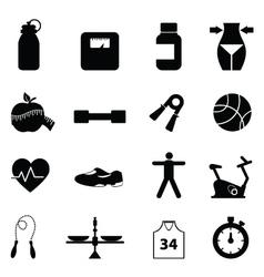 Health pictograms vector image vector image