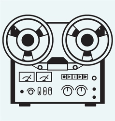 Reel tape recorder vector image vector image