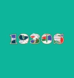 1930s concept word art vector