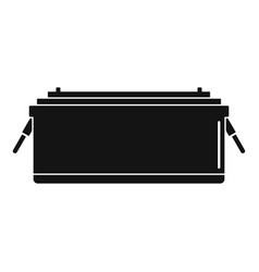24 volt car battery icon simple style vector