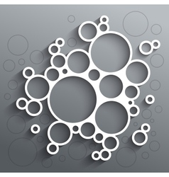 Abstract infographics white circles with shadow on vector