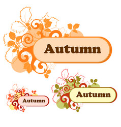 autumn logo for the company in various color vector image