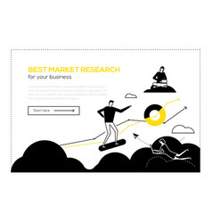 best market research- flat design style web banner vector image