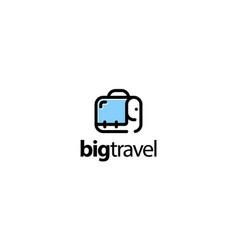 big travel logo design concept vector image