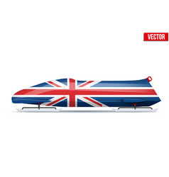 British bob for bobsleigh vector