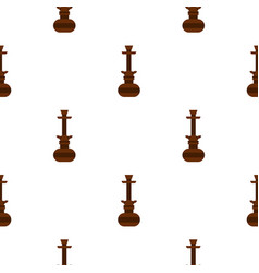 brown arabic hookah pattern seamless vector image