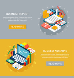 Business analytics banners set vector