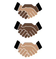 business handshake icon on white background vector image