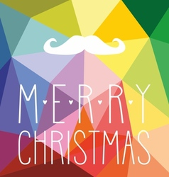 Christmas hipster card with mustache vector