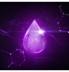 Collagen serum droplet vector