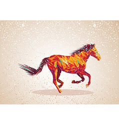 Colorful abstract horse shape vector image