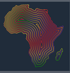 colorful africa made by strokes vector image
