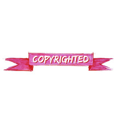 Copyrighted ribbon vector