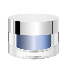 cosmetic jar mock up vector image