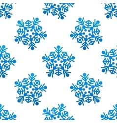 Crystal and snowflakes seamless pattern background vector