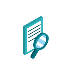 data analysis social media isometric icon vector image