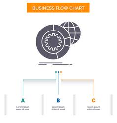 data big data analysis globe services business vector image