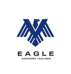 Eagle head logo template vector